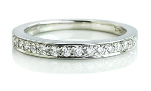 Tiffany & Co. Diamond & Platinum Wedding Band / Celebration Ring, Sz M