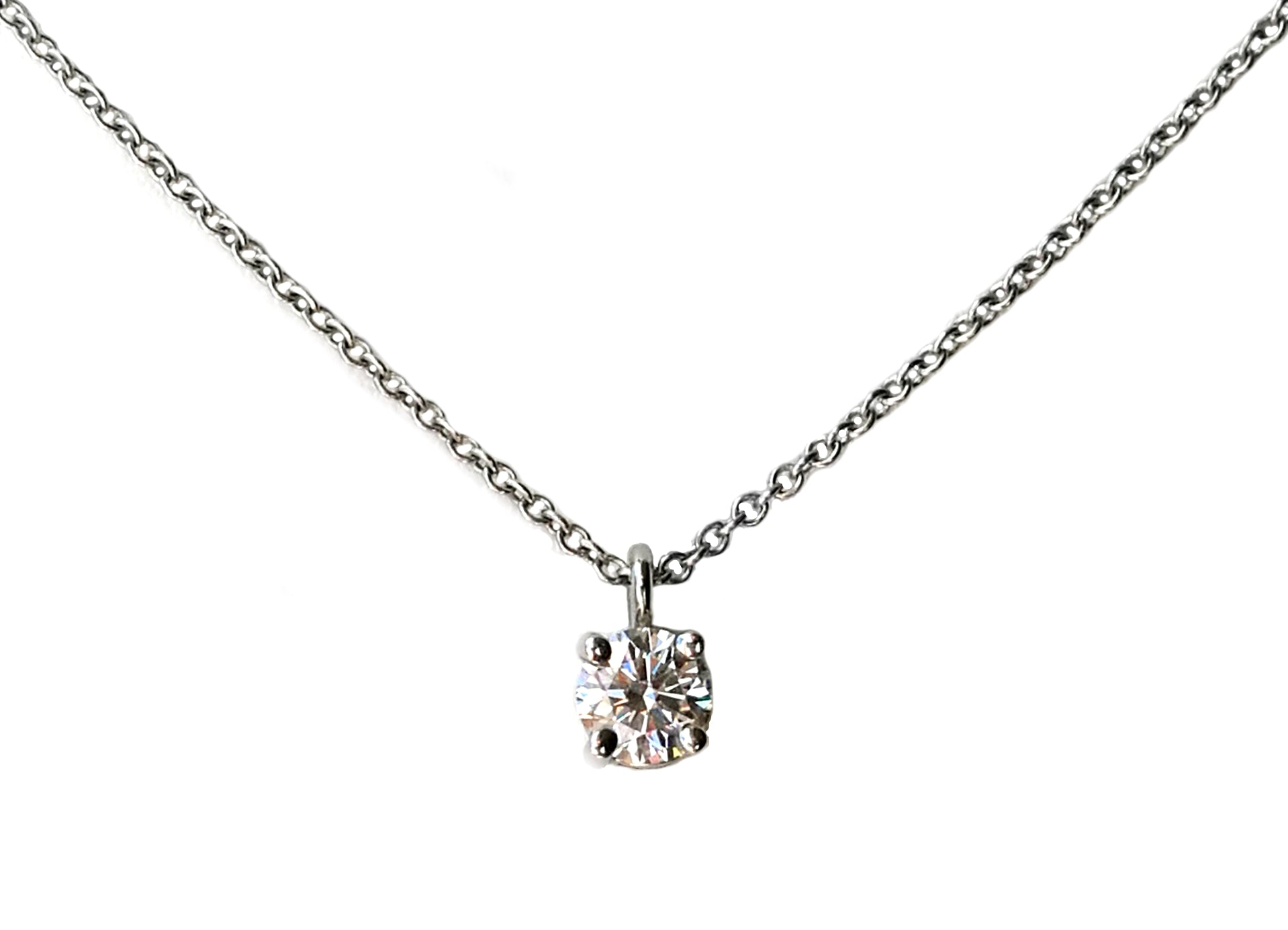 Tiffany co 031ct hvvs1 round brilliant diamond solitaire tiffany co 031ct hvvs1 round brilliant diamond solitaire pendant 16 inch chain aloadofball Images