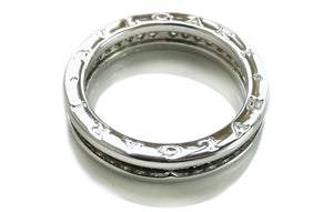 Bulgari B.Zero1 1-Band Diamond Ring in 18k White Gold, Size 62