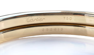Vintage 1990s Cartier 18k Yellow Gold 800 Silver Panthere Bracelet Cuff