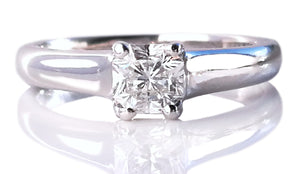 Tiffany & Co .40ct I/VVS2 Lucida Diamond Engagement Ring SZ I 1/2