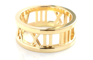 Tiffany & Co 18k Yellow Gold Open Atlas Ring SZ G 1/2 Box