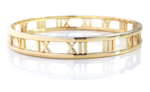 Tiffany & Co 18k Yellow Gold Atlas Bracelet 19.5cm