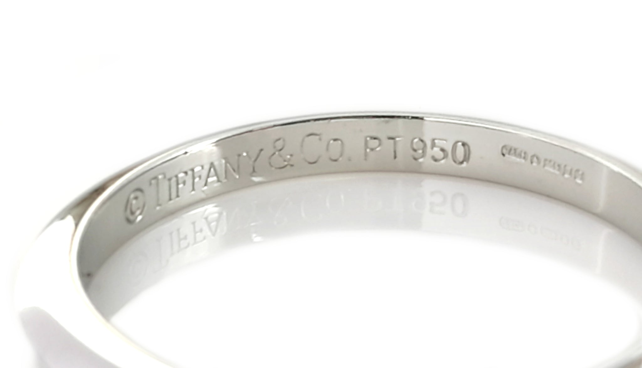Tiffany co knife edge platinum wedding band ring size j knife edge platinum wedding band ring size j junglespirit Gallery