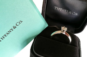 Tiffany & Co. 0.51ct I/VS2 Triple X Round Brilliant Diamond Engagement Ring
