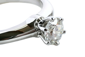 Tiffany & Co. 0.51ct I/VS2 'Triple-X' Round Brilliant Cut Diamond Engagement Ring