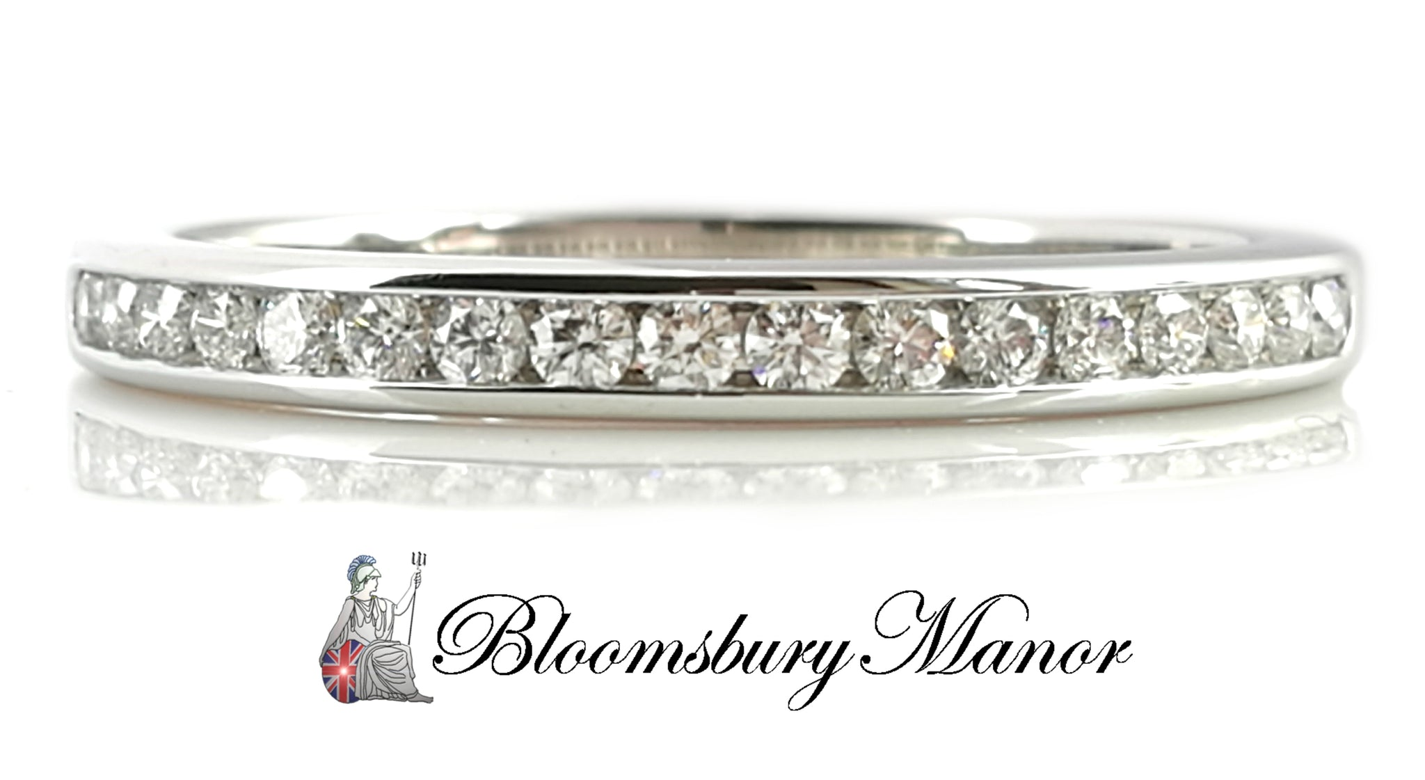 80ba46de9 Tiffany & Co. 2mm Channel Set Diamond Platinum Wedding Band / Ring, Si -  Bloomsbury Manor Ltd