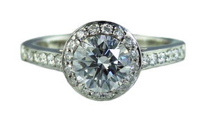 Tiffany & Co 'Embrace' 1.02ct H/VVS2 Round Brilliant Diamond Engagement Ring