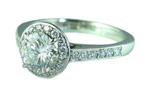Tiffany & Co 'Embrace' 1.02ct H/VVS2 Diamond Engagement Ring