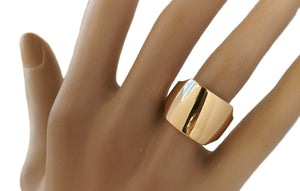 Cartier Chunky 18k Gold Square Shield Ring, Size 53