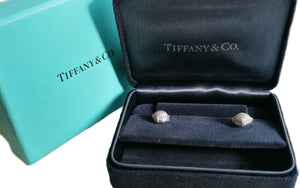 Tiffany & Co 18k White Gold Paloma Picasso Sugar Stacks Diamond Earrings