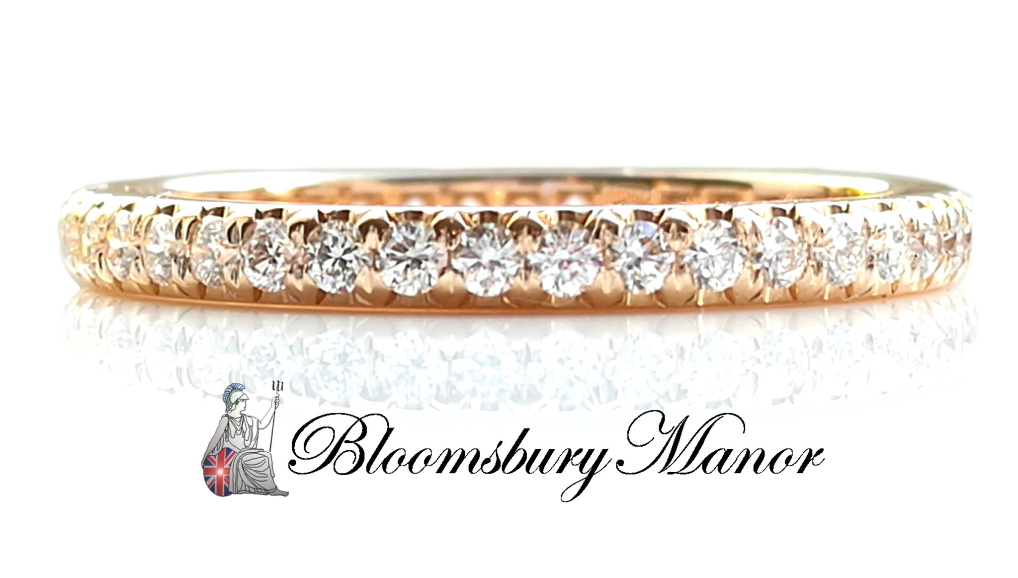 44b07b9f4 Tiffany & Co. 'Metro' Rose Gold & Diamond Ring, Size K - Bloomsbury ...