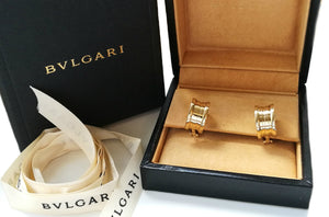 Bulgari Bvlgari 18k Yellow Gold B.Zero1 Earrings in Original Box