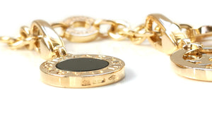 Bulgari Bvlgari 5 Charm Bracelet in 18k Yellow Gold