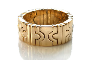 Bulgari Vintage 18k Yellow Gold Parentesi Ring, Size L