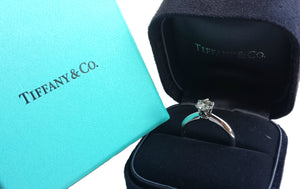 Tiffany & Co .52ct H/VS1 Round Brilliant Engagement Ring J 1/2 (US 5)