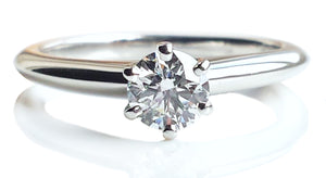 Tiffany & Co. 0.37ct D/VS1 Triple XXX Round Brilliant Engagement Ring