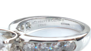 Tiffany & Co. 2.44tcw H/VVS1 Round Brilliant Engagement Ring with Channel Set Diamond Band