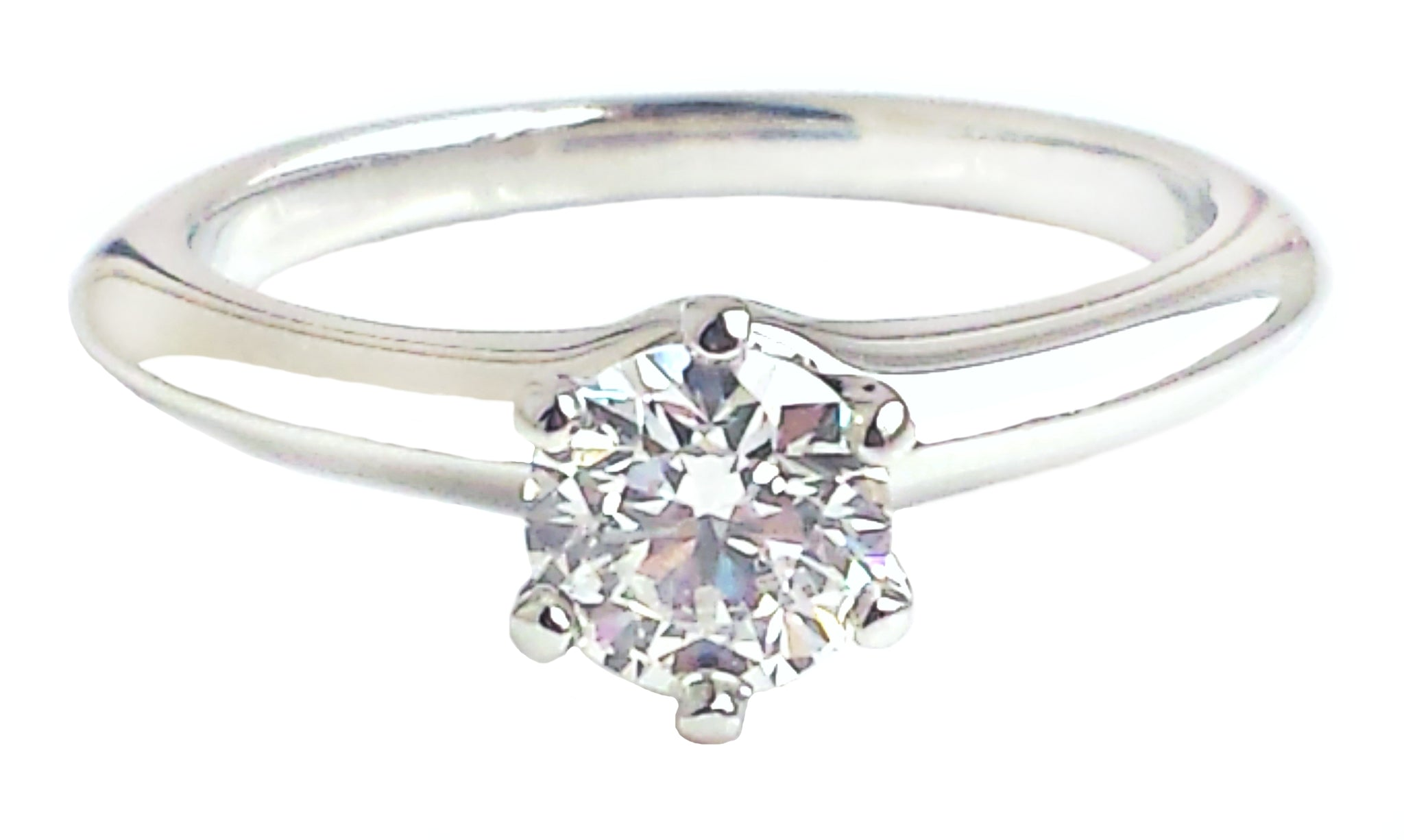 Tiffany & Co. 0.62ct I/VS1 Triple-X Round Brilliant Cut Diamond Engagement Ring