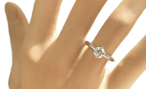 Tiffany & Co .59ct G/VS Round Brilliant Diamond Engagement Ring SZ M