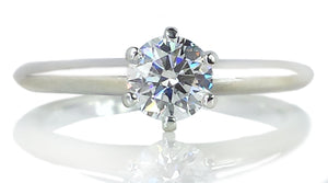 Tiffany & Co. 0.43ct F/VVS1 Round Brilliant Diamond Engagement Ring
