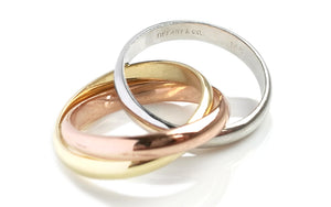 Tiffany & Co 14k 3 Colour Gold Trinity Ring
