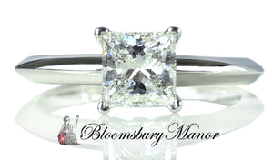 Tiffany & Co. 0.66ct G/VVS1 Princess-Cut Diamond Engagement Ring