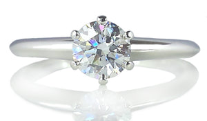 Tiffany & Co. 0.47ct H/VS2 Round Brilliant Cut Diamond Engagement Ring