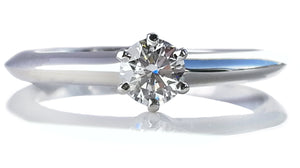 Tiffany & Co. 0.23ct G/VS Round Brilliant Diamond Engagement Ring