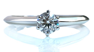 Tiffany & Co. 0.31ct F/VS1 Round Brilliant Diamond Engagement Ring