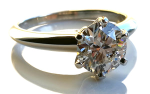 Tiffany & Co 1.19ct G/VVS1 Round Brilliant Engagement Ring SZ L