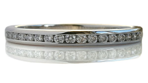 Tiffany & Co. Diamond 2mm 0.17ct Eternity Wedding Band Ring, Size O