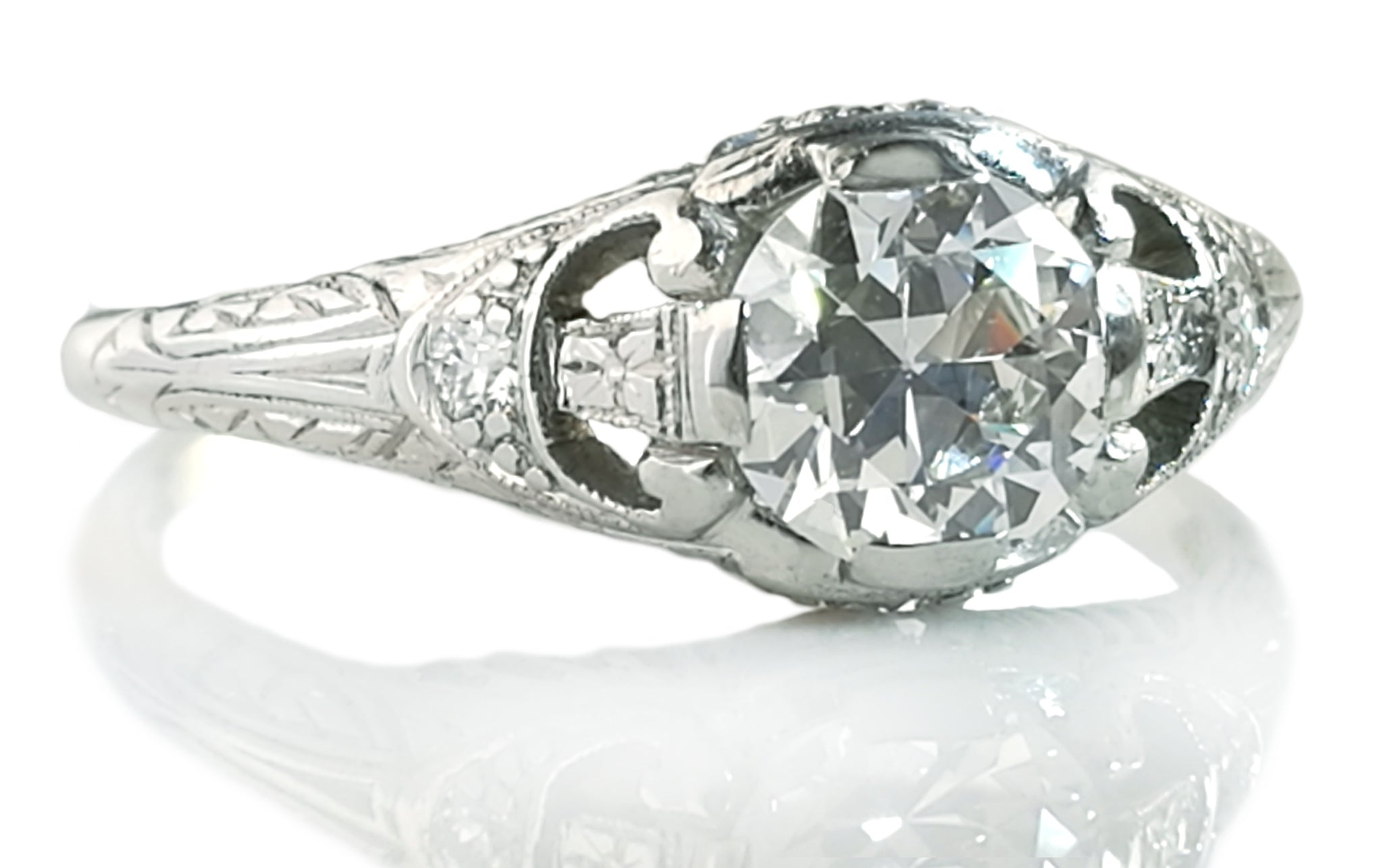 9f4ee1d33 Antique Art Deco .75ct Old Cut Diamond 1920s Tiffany & Co Engagement Ring  Box