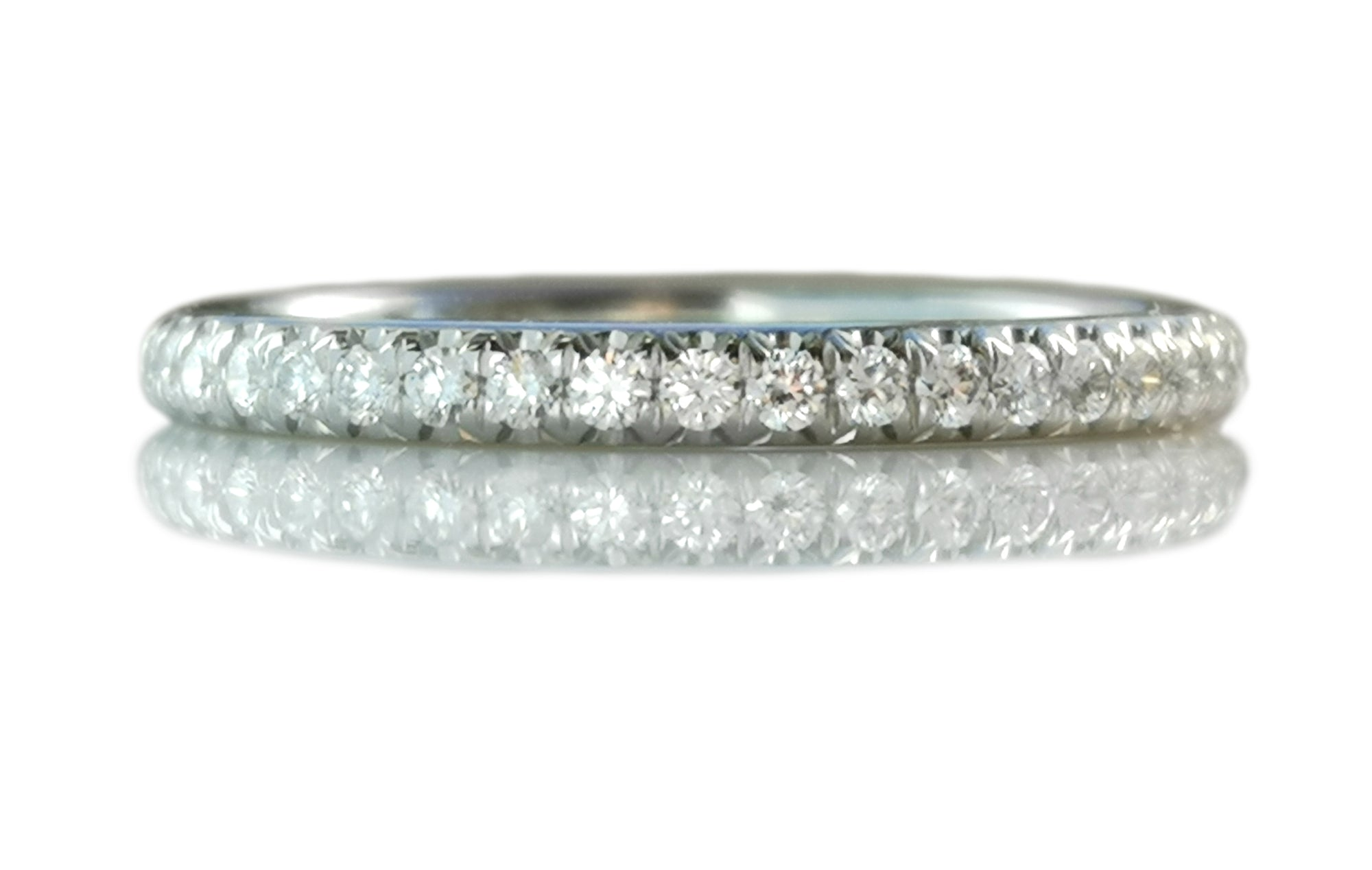 Tiffany & Co .17ct Diamond Soleste Band Ring SZ L