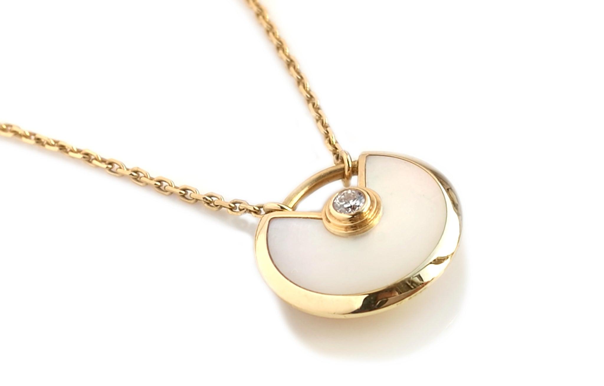 Cartier Amulette de Cartier XS Mother of Pearl & Diamond Necklace
