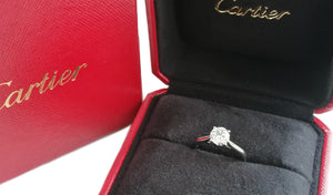 Cartier 0.90ct E/VVS2 Diamond & Platinum 1895 Engagement Ring