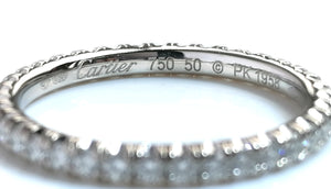 Cartier Full Diamond 2mm Etincelle Wedding Band SZ 50 (K)