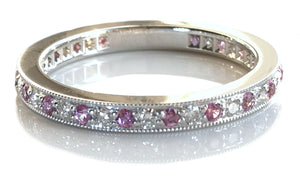 Tiffany & Co. Diamond & Pink Sapphire 'Legacy' Ring, Size L