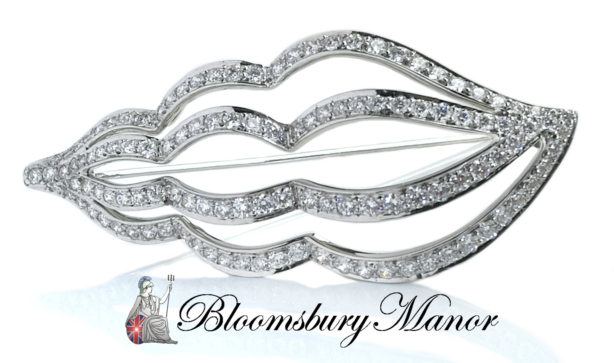 Pre-owned Second Hand Tiffany & Co Whelk Diamond Brooch