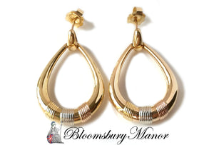 Vintage 1990s Trinity Cartier Door Knocker 18k Yellow Gold Earrings