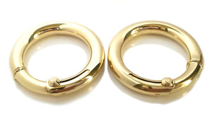 Vintage 1960s Cartier Large Hoop 18k Gold Earrrings 45mm 23.43g