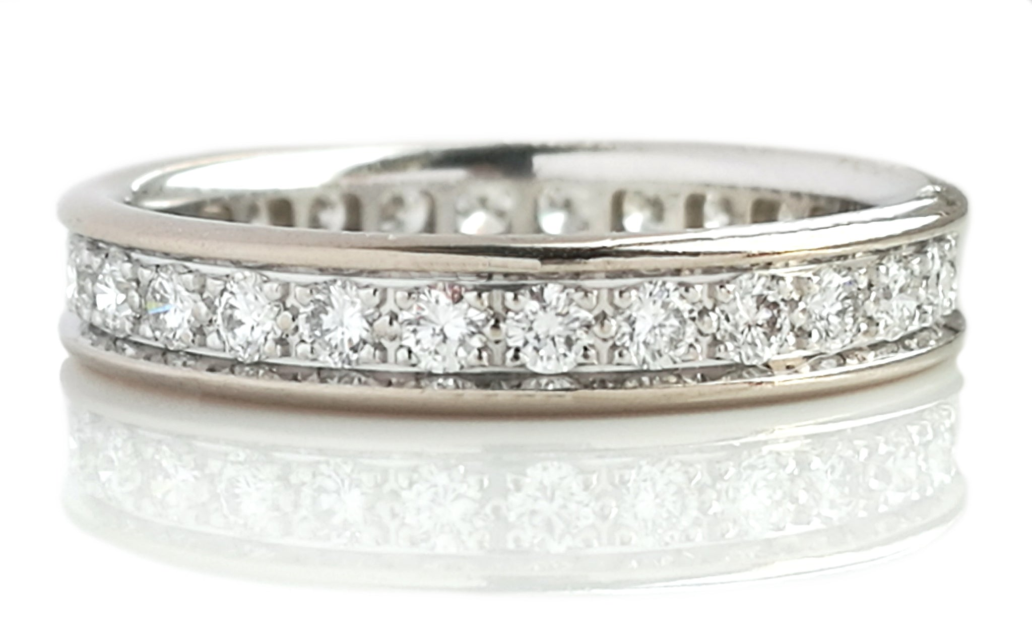 Cartier 3.5mm Ballerine Diamond Wedding Band in 18k White Gold