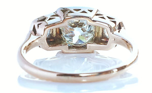 Vintage 1950s Westerback 2.0ct H/I1 Handmade Old Cut 3-Stone Diamond Engagement Ring