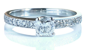 Tiffany & Co .48ct H/VS1 Diamond Novo Engagement Ring SZ K
