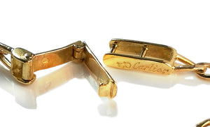 Vintage 1990s Cartier Diamond Link Bracelet 18k Yellow Gold 7.5 inches 5.1 grams