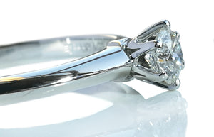 Tiffany & Co. 0.24ct G/VS Round Brilliant Cut Diamond Engagement Ring