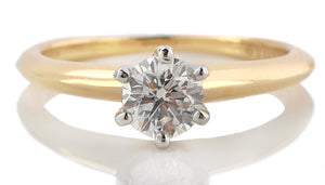 Tiffany & Co .43ct G/VS Round Brilliant Diamond Engagement Ring J 1/2