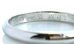 Cartier 1895 2.5mm Wedding Ring Platinum SZ 53 (M)
