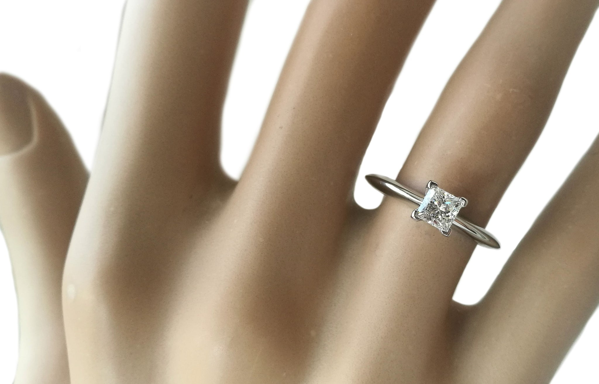 Tiffany & Co. 0.41ct G/SI1 Princess Cut Diamond Engagement Ring
