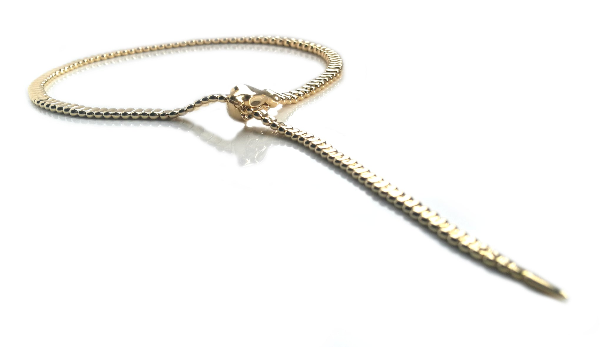 Tiffany & Co. Snake / Serpent Necklace in 18k Yellow Gold, 20 inch